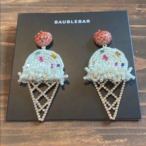 New! BaubleBar vanilla ice cream cone w sprinkles